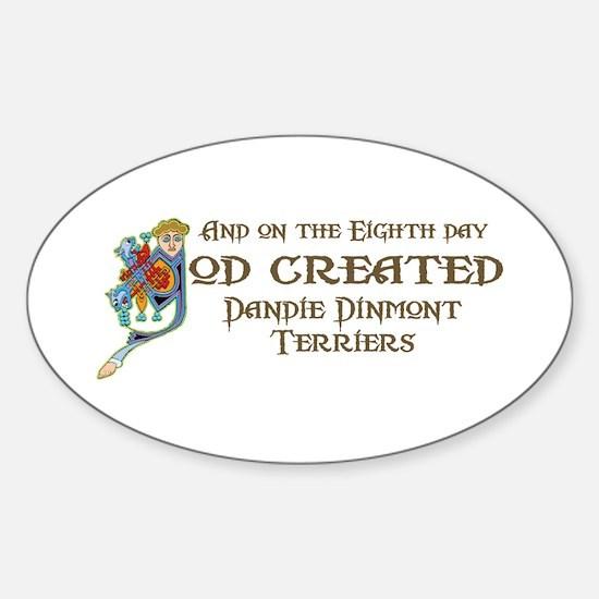 God Created Dandies Oval Decal