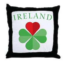 Cute Lucky irish Throw Pillow