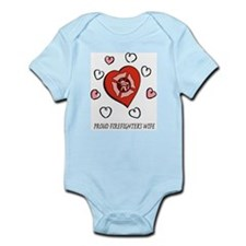 Proud Firefighter's Wife Infant Creeper