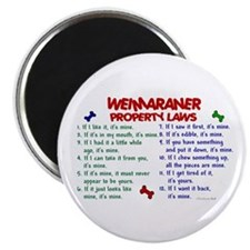 Weimaraner Property Laws 2 Magnet