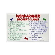 Weimaraner Property Laws 2 Rectangle Magnet