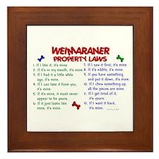Weimaraner Property Laws 2 Framed Tile