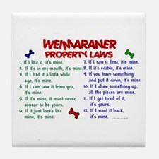Weimaraner Property Laws 2 Tile Coaster