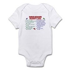 Weimaraner Property Laws 2 Infant Bodysuit