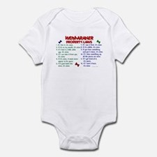 Weimaraner Property Laws 2 Infant Bodysuit