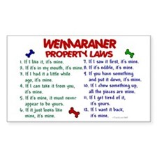Weimaraner Property Laws 2 Rectangle Decal