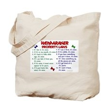 Weimaraner Property Laws 2 Tote Bag