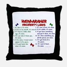Weimaraner Property Laws 2 Throw Pillow