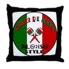 Alonso Cinco De Mayo Throw Pillow