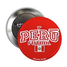"""Peru Futbol/Soccer 2.25"""" Button (10 pack)"""