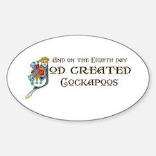 God Created Cockapoos Oval Decal