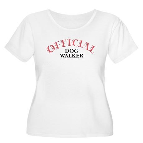 Official Dog Walker Women's Plus Size Scoop Neck T