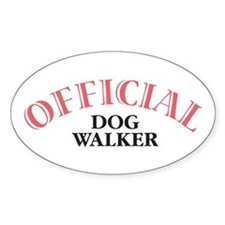 Official Dog Walker Oval Decal