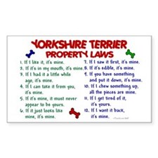 Yorkshire Terrier Property Laws 2 Decal
