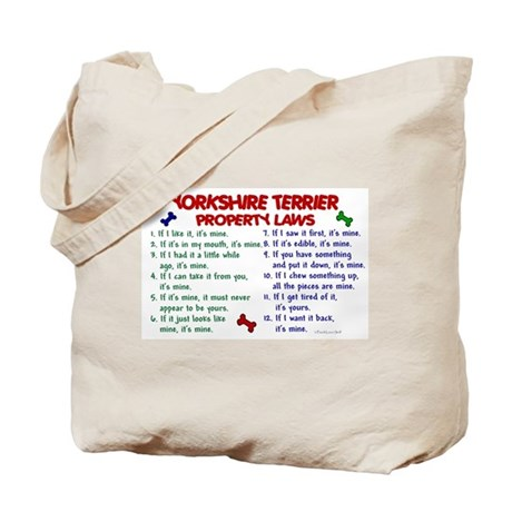 Yorkshire Terrier Property Laws 2 Tote Bag