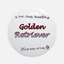 Golden Breathe Ornament (Round)