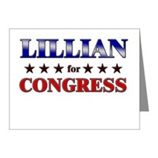 LILLIAN for congress Note Cards (Pk of 10)
