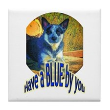 """Blue By You"" Tile Coaster"