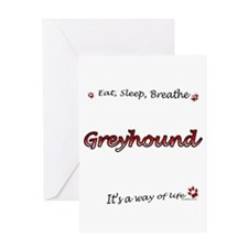 Greyhound Breathe Greeting Card