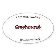 Greyhound Breathe Oval Decal