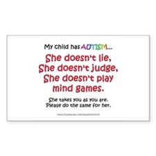 No Games (Girl) Rectangle Decal
