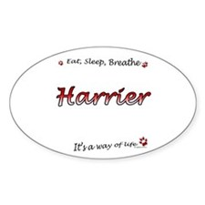 Harrier Breathe Oval Decal