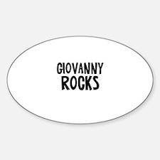 Giovanny Rocks Oval Decal
