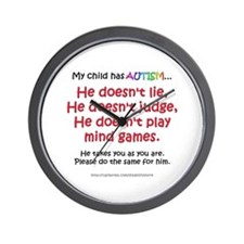 No Games (Boy) Wall Clock