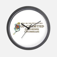 God Created Caucasians Wall Clock
