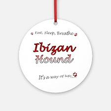 Ibizan Hound Breathe Ornament (Round)