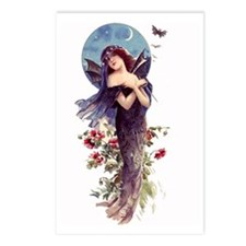 Blue Bat Lady ~Art Nouveau~ 8pk Postcards