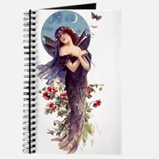 Blue Bat Lady ~Art Nouveau~ Blank Notebook Journal