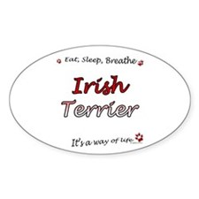 Irish Terrier Breathe Oval Decal