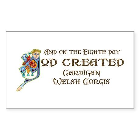 God Created Cardigans Rectangle Sticker