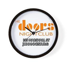 Doors Nightclub Wall Clock