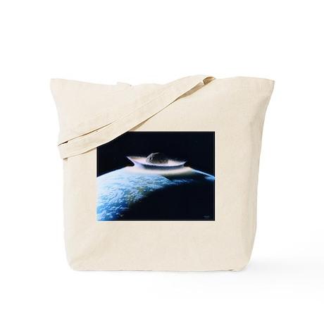 asteroid hitting earth Tote Bag