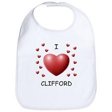 I Love Clifford - Bib