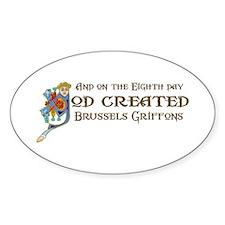 God Created Griffons Oval Decal