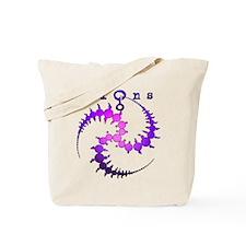 Spiral Crop Circle Purple Pink Tote Bag