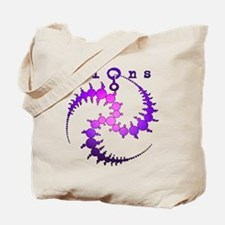 Spiral Crop Circle Purple Pink Tote Bag