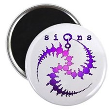 Spiral Crop Circle Purple Pink Magnet