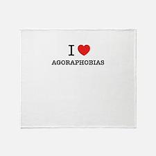 I Love AGORAPHOBIAS Throw Blanket