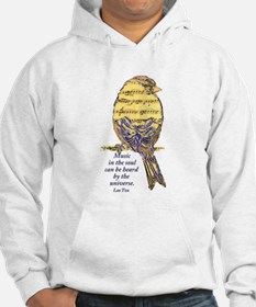 Music in the Soul quote Music N Hoodie