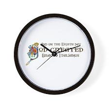 God Created Braccos Wall Clock