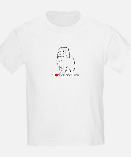 I Love Holland Lop Rabbits T-Shirt
