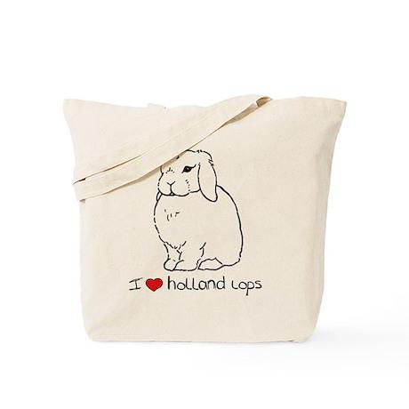 I Love Holland Lop Rabbits Tote Bag
