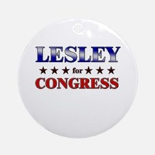 LESLEY for congress Ornament (Round)