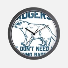 Cute Badgers Wall Clock