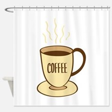 Coffee Cup Shower Curtain