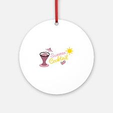Summer Cocktail Round Ornament